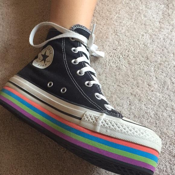 903196dfe4e3aa Converse Shoes - Converse all star rainbow platform high top
